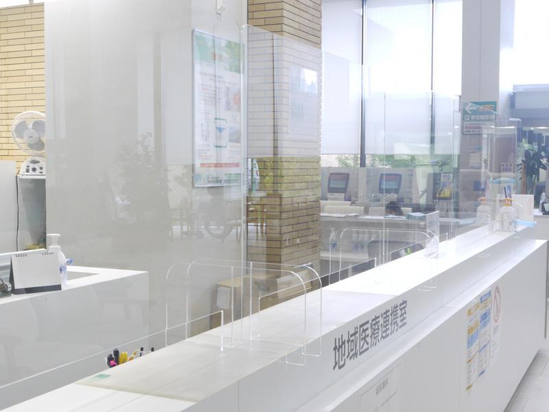 飛沫防止アクリル板の設置