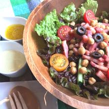 ひよこ豆とベーコンのサラダ