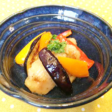 夏野菜とチキンのマリネ