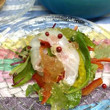 白身魚のカルパッチョ ジュレソース