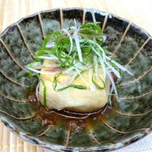 揚げだし豆腐と夏野菜の梅ソース